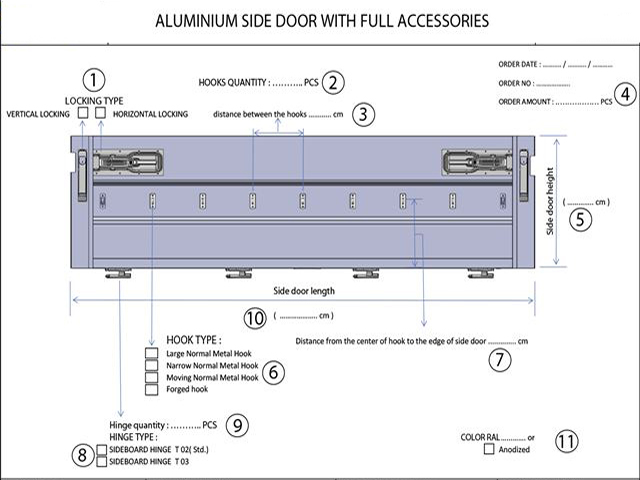 ALUMINIUM SIDE DOOR SETS